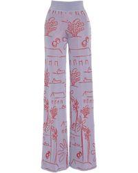 Pepa Pombo - Santa Clara Printed Wide-leg Trousers - Lyst