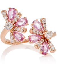 Hueb - M'o Exclusive 18k Rose Gold, Sapphire And Diamond Rings - Lyst