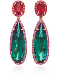 Katherine Jetter - One-of-a-kind Tourmaline Drop Earrings - Lyst