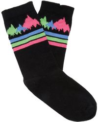 The Elder Statesman - Patterned Intarsia Knit Cashmere Socks - Lyst