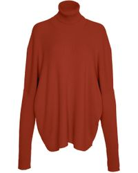 Sally Lapointe - Lightweight Cashmere Silk Oversized Turtleneck Top - Lyst