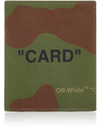Off-White c/o Virgil Abloh - Printed Camouflage Leather Cardholder - Lyst