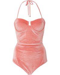 Suboo | Underwired Velvet One-piece Swimsuit | Lyst