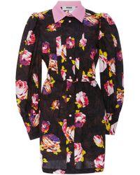 MSGM - Cotton Shirt Dress - Lyst