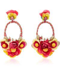 Ranjana Khan - Multi Flower Embellished Earrings - Lyst