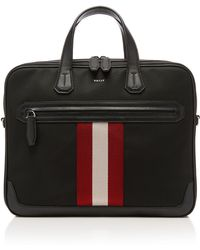 Bally - Striped Briefcase - Lyst