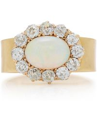 Renee Lewis - 18k Gold, Opal, And Diamond Ring - Lyst