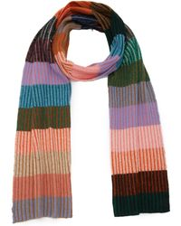 The Elder Statesman - Striped Rib-knit Cashmere Scarf - Lyst