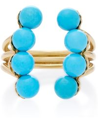 Yvonne Léon | 18k Gold Turquoise Ring | Lyst