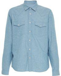 AMI - Western Chambray Shirt - Lyst