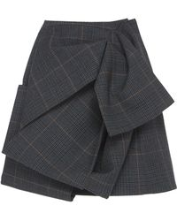 Dice Kayek | Ruched Plaid Skirt | Lyst