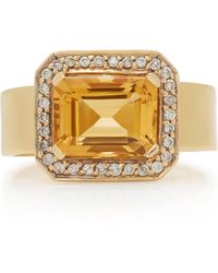 Renee Lewis - 18k Gold, Topaz, And Diamond Ring - Lyst