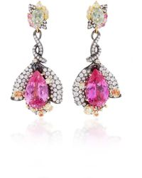 Anabela Chan - M'o Exclusive: Fuchsia Sapphire Earrings - Lyst
