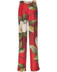 F.R.S For Restless Sleepers - Zelos Straight-leg Printed Silk Pants - Lyst