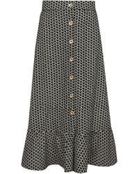 Dalood - Button Front Skirt - Lyst