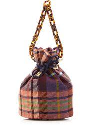 Edie Parker - Shorty Plaid Tweed Bucket Bag - Lyst