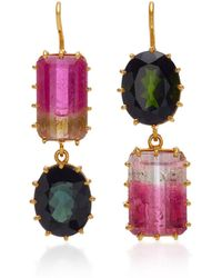 Renee Lewis - 18k Gold And Tourmaline Earrings - Lyst