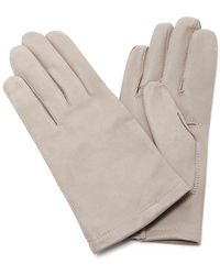 Maison Fabre | Grey Floods Leather Gloves | Lyst