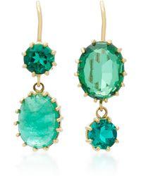 Renee Lewis | 18k Gold Gem Emerald Earrings | Lyst