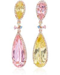 Anabela Chan - 18k Yellow Gold Multi-stone Earrings - Lyst