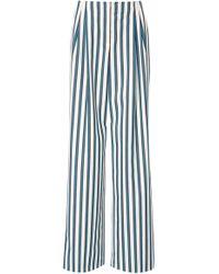 ESCADA - Tekita Striped Twill Flared Trousers - Lyst