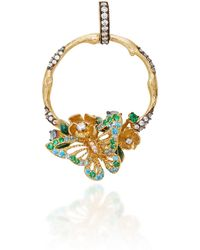 Anabela Chan - M'o Exclusive Aqua Orchard Hoop Pendant - Lyst