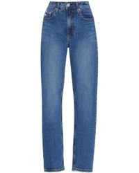 Nobody Denim - True High-rise Slim-leg Cropped Jean - Lyst