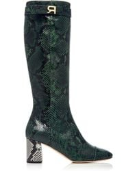 Rochas - Knee High Python Boot - Lyst