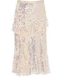 Needle & Thread - Scarlett Sequin Tulle Midi Skirt - Lyst