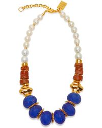 Lizzie Fortunato Bombay Gold-plated Brass And Bead Necklace - Multicolour