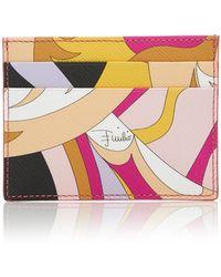 Emilio Pucci - Acapulco Printed Textured Leather Cardholder - Lyst