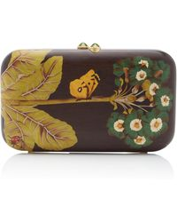 Silvia Furmanovich - Marquetry Butterfly And Ladybug Clutch - Lyst