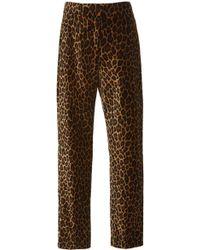 A.L.C. - Harrison Leopard-print Straight-leg Trousers - Lyst