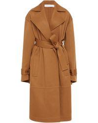 Victoria Beckham - Wool-crepe Trench Coat - Lyst