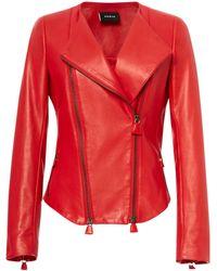 Akris - Vesa Leather Jacket - Lyst