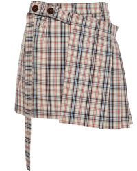 Isa Arfen - Tartain Kilt Skirt - Lyst