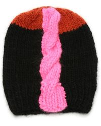 Albertus Swanepoel - Color-blocked Cable-knit Beanie - Lyst