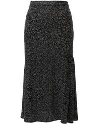 ANOUKI - Black & Sparkly Silver Skirt - Lyst