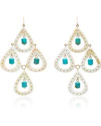 Ashley Pittman - Jasiri Horn And Turquoise Earrings - Lyst