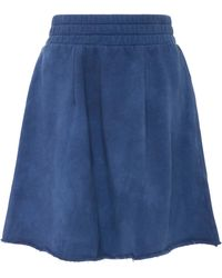 The Elder Statesman - M'o Exclusive Cotton Fleece A-line Skirt - Lyst