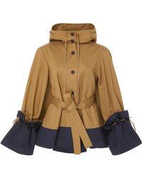 Palmer//Harding - Shadow Cotton Peplum Jacket - Lyst