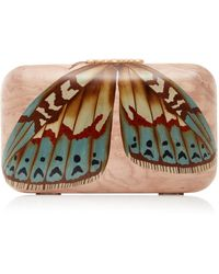 Silvia Furmanovich | Marquetry Pink Butterfly Clutch | Lyst