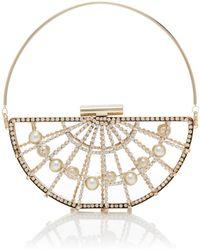 Rosantica - Jodi Crystal And Faux Pearl Gold-tone Top Handle Bag - Lyst
