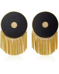 Monica Sordo - Lluvia Gold-plated Onyx Earrings - Lyst