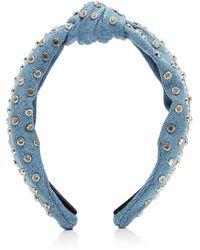 Lele Sadoughi - Crystal-embellished Denim Headband - Lyst
