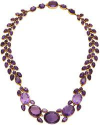 Simon Teakle - Antique Amethyst Necklace - Lyst