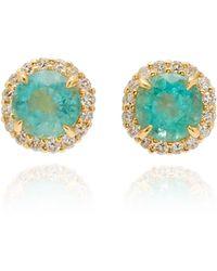 Jamie Wolf - 18k Yellow Gold Diamond Edge Emerald Earring - Lyst