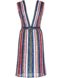 Georges Hobeika - Multi-color Striped Dress - Lyst