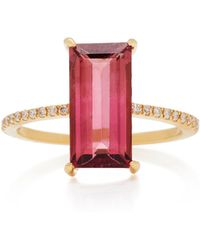 Yi Collection - 18k Gold Tourmaline And Diamond Ring - Lyst