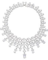 Fallon - Monarch Elizabeth Bib Rhodium And Crystal Necklace - Lyst